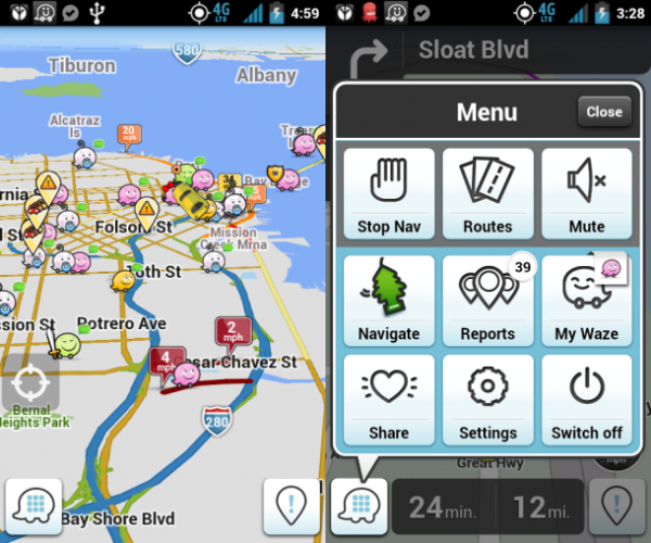 Get Directions from Waze