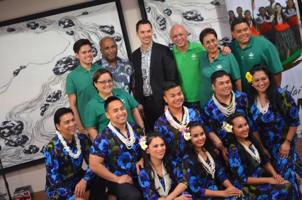 Guam Visitors Bureau Team and a Group of Cultural Performers from Guam