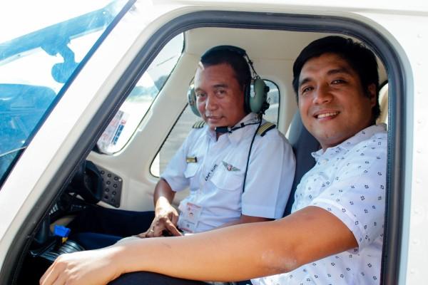 wcc president ramon guico III and pilot-instructor alito    getalica 2