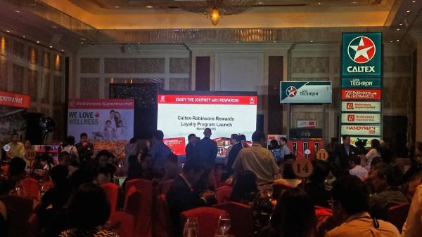 At the launching of Robinsons Retail-Chevron partnership at the Makati Shangri-La