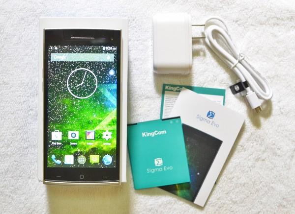 KingCom S!gma Evo Smartphone Package Inclusion