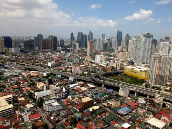 Makati's aerial view