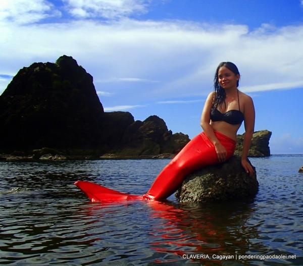 Paula in Taggat Lagoon Claveria