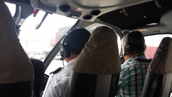 Ready to take off at Philjets hangar in Pasay City
