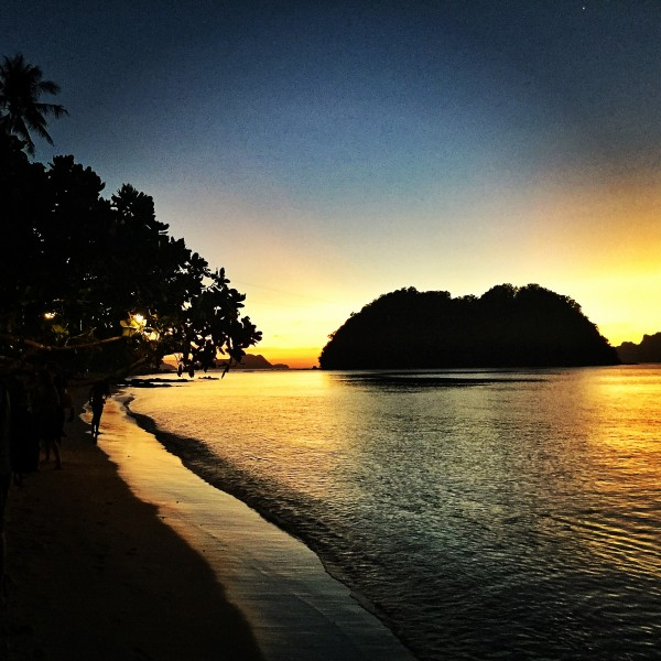 Sunset in Corong Corong Beach
