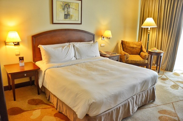 My Bed for 3 nights at Marco Polo Hotel Davao