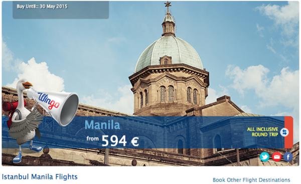 Istanbul Manila Flights