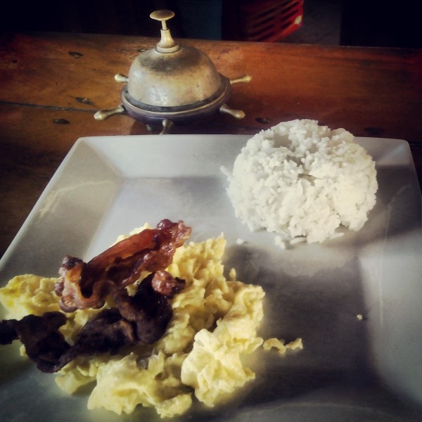 The complimentary Filipino breakfast