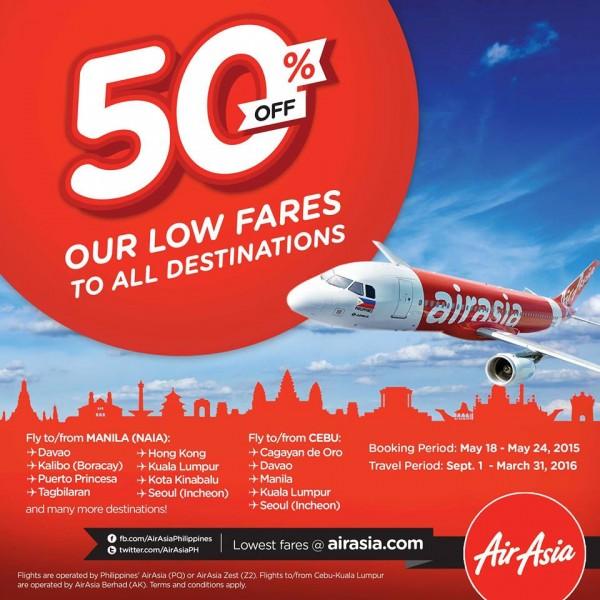 AirAsia 50 percent off