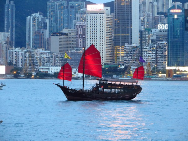 Junk Boat in Hong Kong by Michali K via Flickr