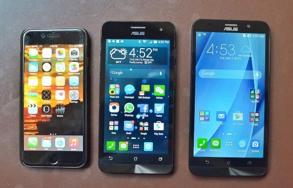 iPhone 6 vs Asus Zenphone 5 vs Asus Zenfone 2