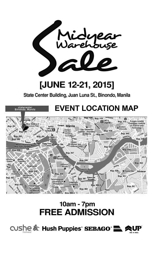 Binondo Mid Year Warehouse Sale Map