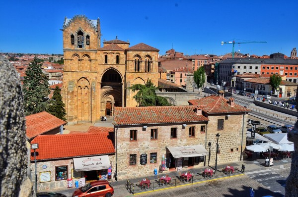 Buildings and a Church outside Avilla Walls