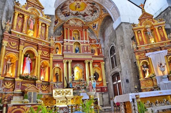 Inside San Bartolome Apostol Parish Church in Majayjay Laguna