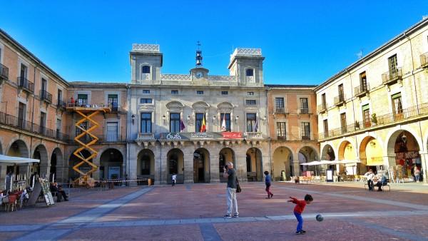 Plaza Mayor in Avila Spain