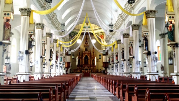All female saints statues in Molo Church