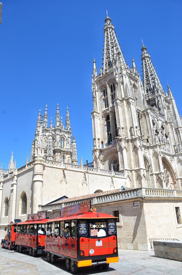 Tourist Vehicle outside Burgos Cathedral