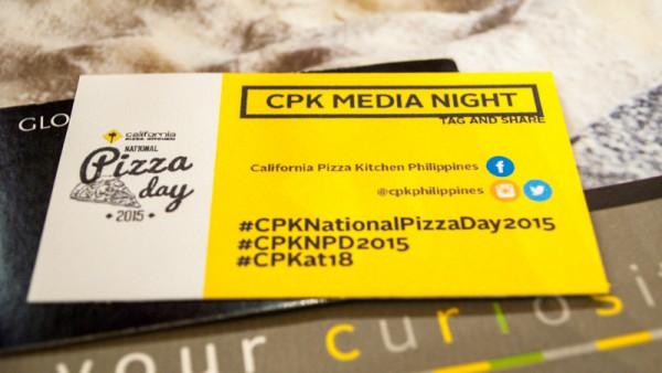 California Pizza Kitchen Media Night