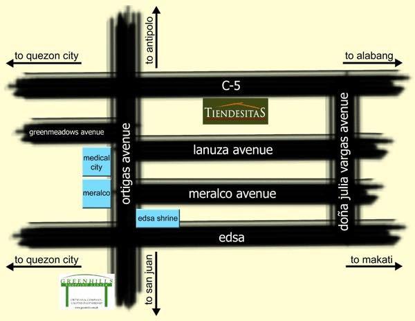Tiendesitas Map