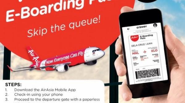 AirAsia mobile check-in option