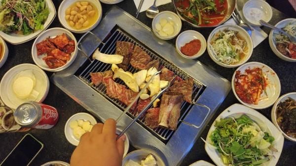Galbi dinner at Banzuwon