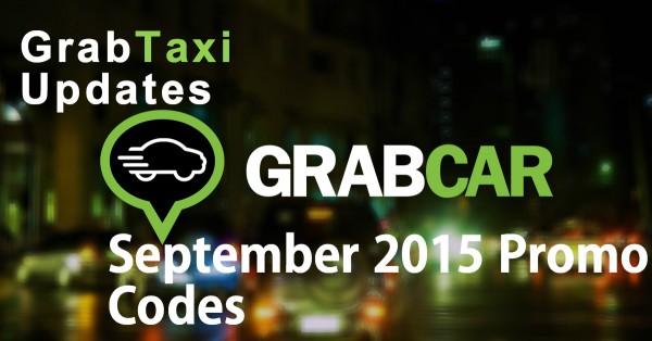GrabCar September 2015 Promo Codes