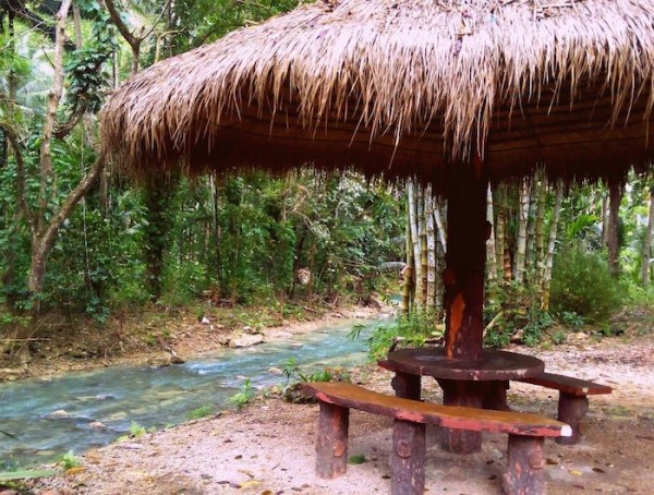 Nipa cottage stopover along the river