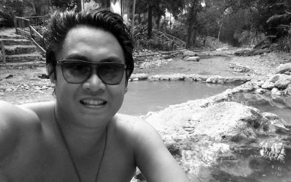 Selfie after a quick dip
