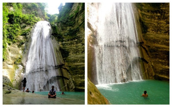 At one with the queen of Cebu's waterfalls