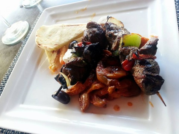 My Husband's Choice for Lunch at The Bay, Lamb Kebab