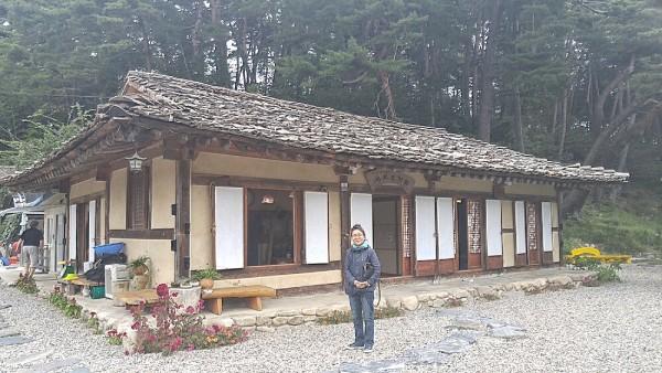 Our Korean Tour Guide outside Seojichogaddeul Restaurant