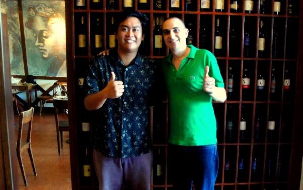 The @kingofsinulog with chef Massimo