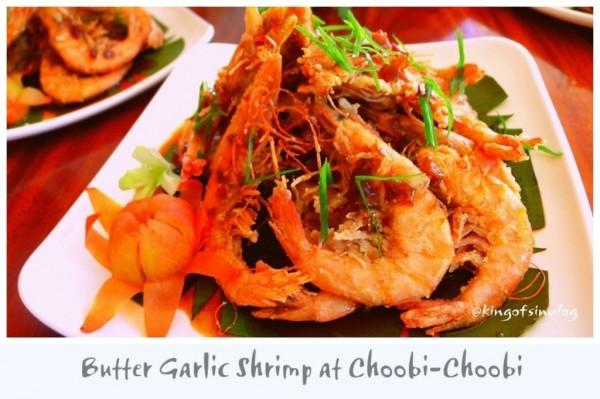 Butter Garlic Shrimp at Choobi-Choobi