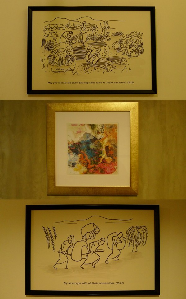 Paintings inside the room