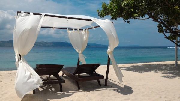 serene lounge area club paradise palawan