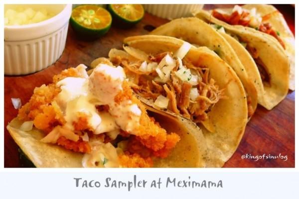 Taco Sampler at Meximama