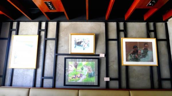Canvas Bistro Bar & Gallery Art display