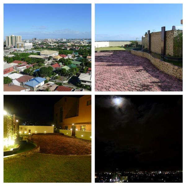 Contrasting roofdeck views