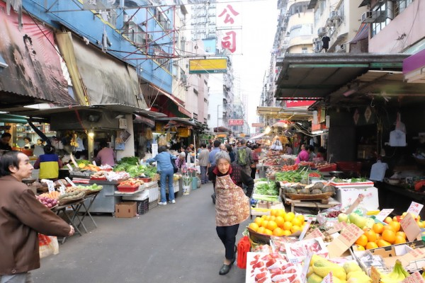 Fruits and Vegetable Market in Mongkok