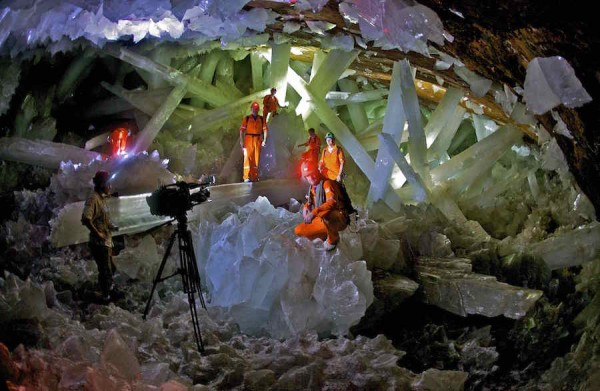 Amazing crystal cave in mexico