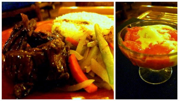 Baby Back Ribs Adobo-style with Mixed Veggies and Ice Cream and Buko Pandan Jelly