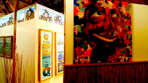 Paintings by local artist in Dauin