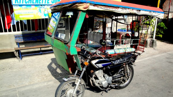 Rode a tricycle from Ginatilan to Alegria