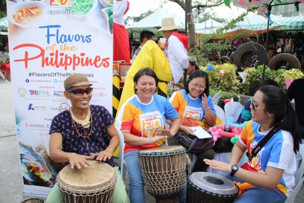 Flavors of the Philippines team joins our drum beaters for fun
