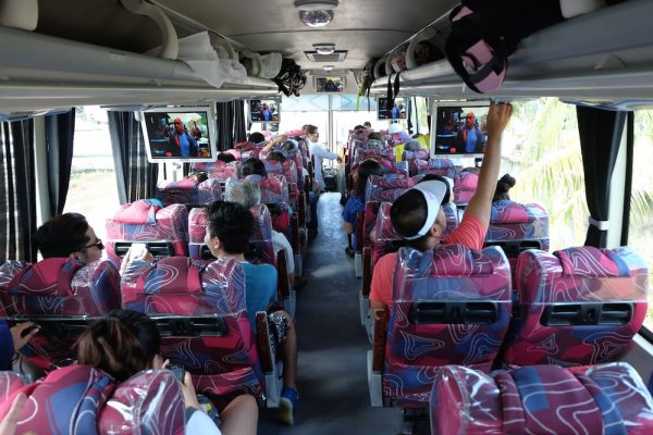 Inside our Suroy Suroy Sugbo Luxury Bus