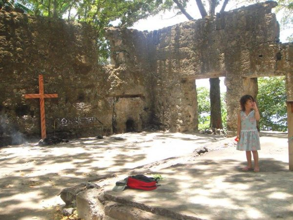 The flame beneath the cross in the ruins further triggers thirst in Luna during the hot high noon