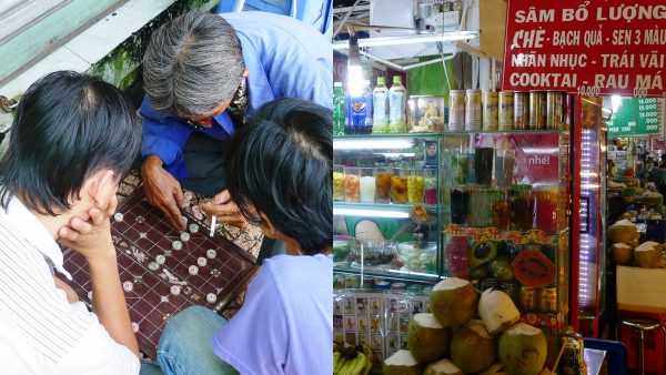 Interacting with the locals at Ben Thanh Market