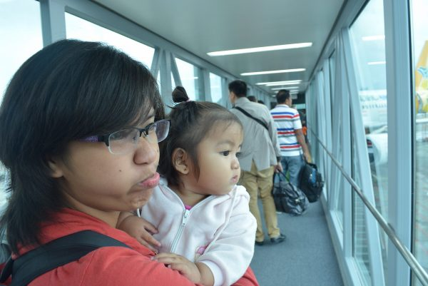 Boarding, on our way to Davao City - Air Travel Versus Land Travel