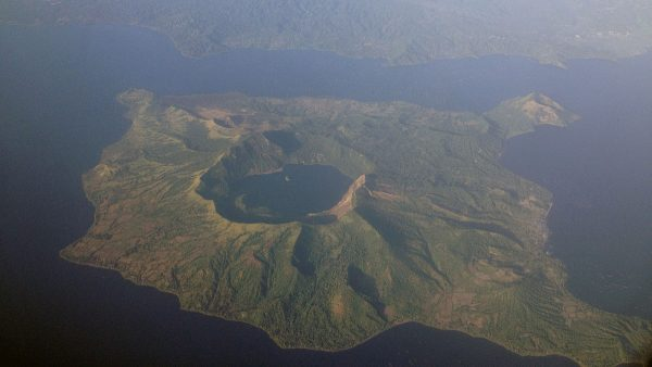 Aerial photo of Taal Volcano