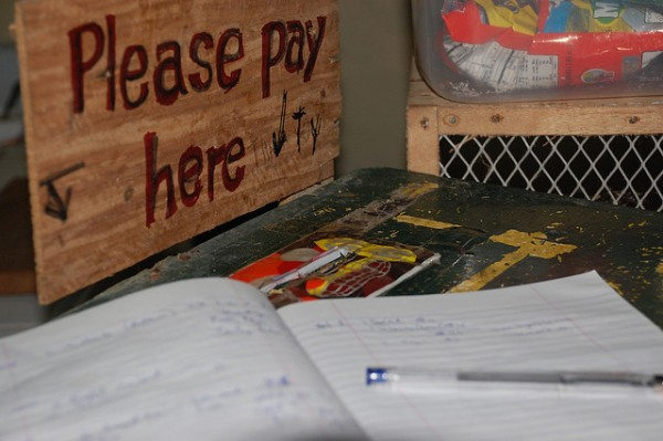 Payment Dropbox at Honesty Store Batanes